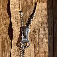 Молния / змейка металлическая разъемная 35 см YKK бежевая