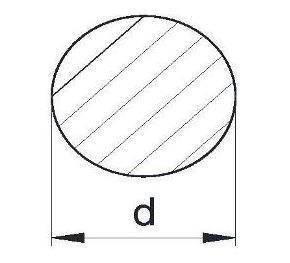 Пруток алюминиевый   Кругляк - диаметр   36мм, фото 2
