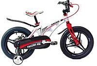 """Детский велосипед ARDIS FALCON MG 16"""" с магниевой рамой и боковыми колесами, Белый"""