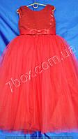 Детское нарядное платье бальное Пайетки (красное) Возраст 6-7 лет., фото 1