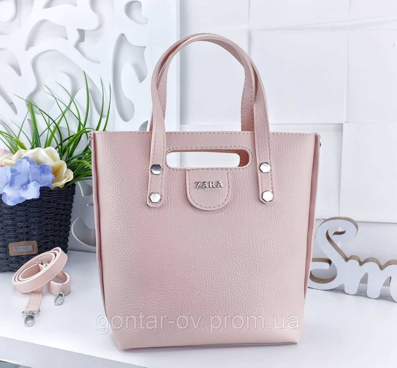 Женская пудровая сумка ZARA