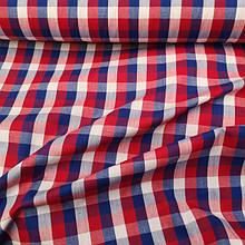 Рубашечная ткань принт, клетка, шитье