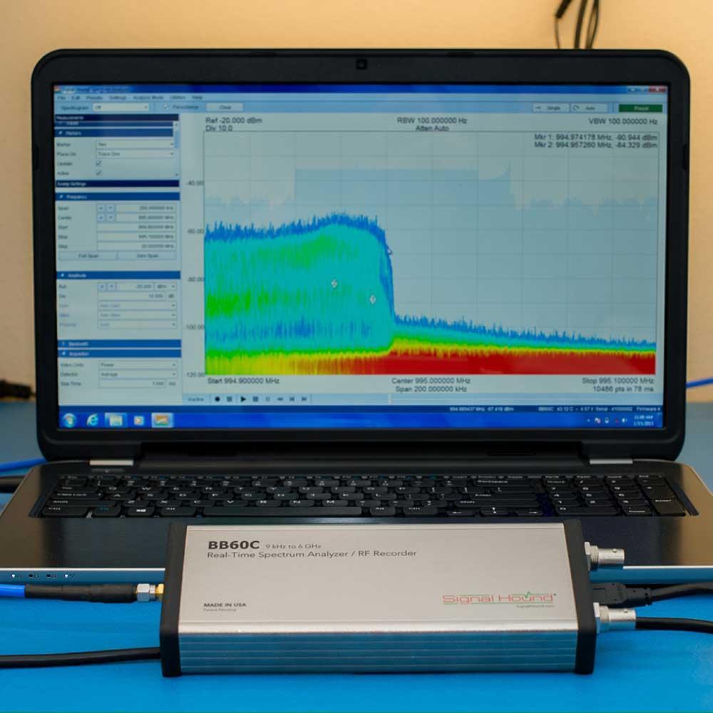 Анализатор спектра в реальном времени 6 ГГц  Signal Hound BB60C, фото 1