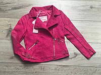 Куртка для девочек с экокожей. 110 рост.