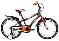 """Детский велосипед ARDIS FITNESS BMX 20"""" двухколесный с боковыми колесами, Черно-оранжевый"""