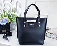 Женская черная сумка ZARA