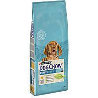 Purina Dog Chow Puppy 14кг-корм для щенков всех пород с курицей