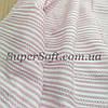 Рубашечная ткань полоска с вышивкой розовый