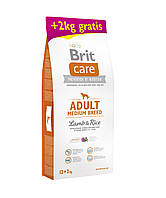 Brit Care Adult Medium Breed Lamb & Rice 12+2 кг - для средних пород с ягненком