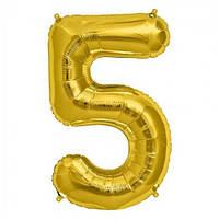 Шарик Цифра золото (80см) 5