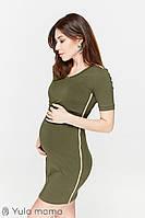Платье-туника для беременных и кормления GINA DR-29.022, хакки., фото 1