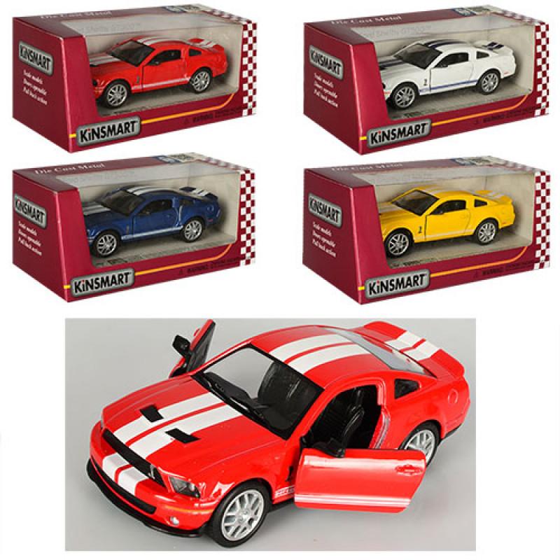 Машинка Kinsmart (KT5310W) SHELBY GT5, інерційна, 4 кольори, в коробці, 16-7-8 см