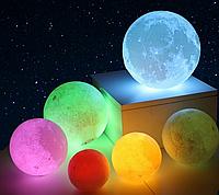 """Детский ночник 3D """"Луна"""" 15 см - 16 цветов, пульт Д/У, стильный светильник"""