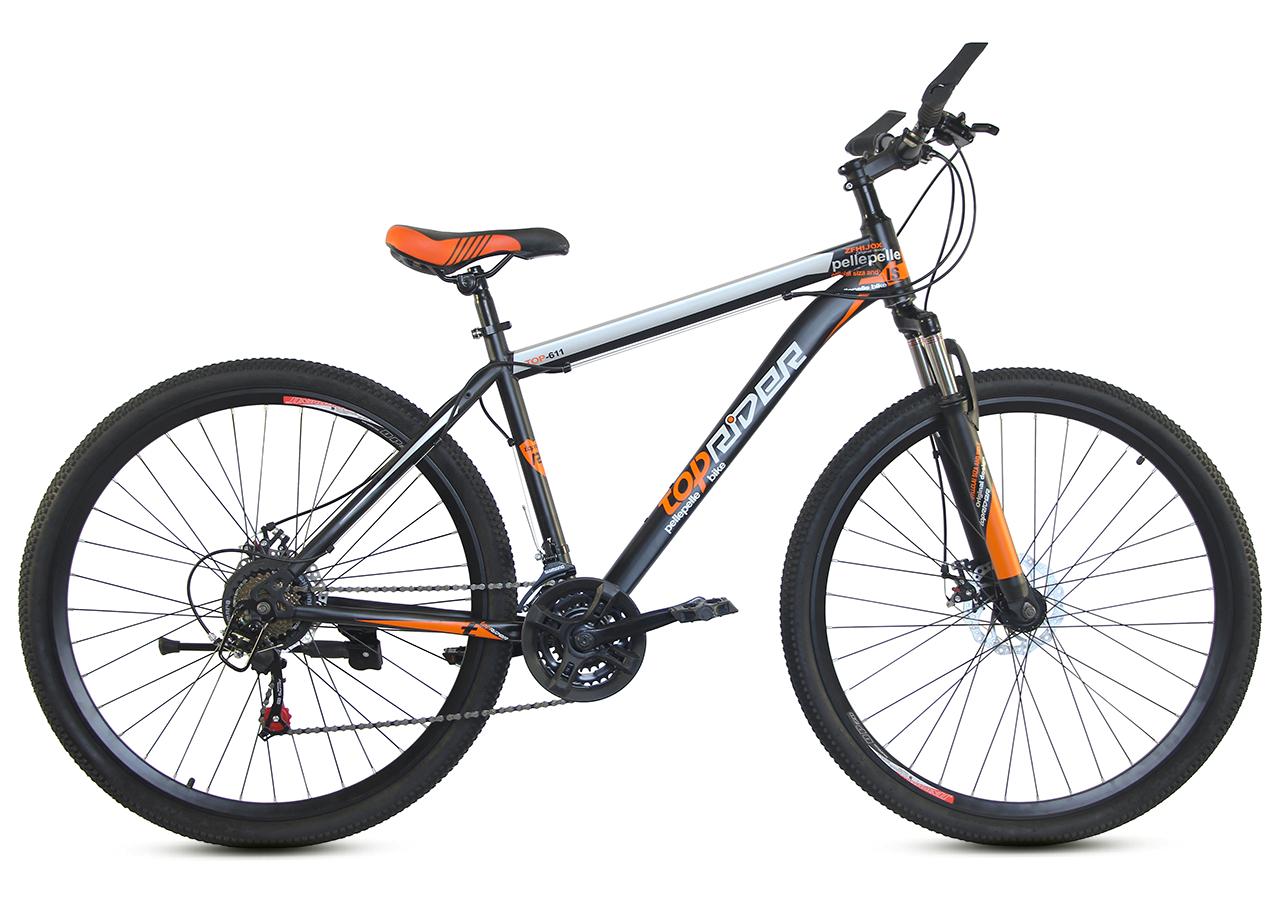 """Горный велосипед TopRider 611 29""""  Черный/Оранжевый"""