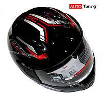 BLD - Шлем детский черный мотоциклетный F2, XXS/45-46, Black, Liner
