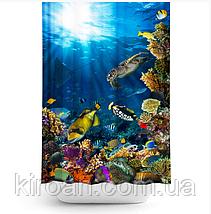 """Тканевая шторка для ванной и душа """"Морское дно"""", размер 180х200см. Tropik Home, Турция, фото 2"""