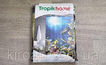 """Тканевая шторка для ванной и душа """"Морское дно"""", размер 180х200см. Tropik Home, Турция, фото 3"""