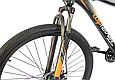 """Горный велосипед TopRider 611 29""""  Черный/Оранжевый, фото 4"""