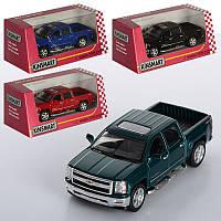Машинка Kinsmart Chevrolet Silverado, металева, інерційна, 4 кольори, в коробці, 16-8-7,5 см