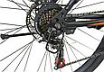 """Горный велосипед TopRider 611 29""""  Черный/Оранжевый, фото 5"""
