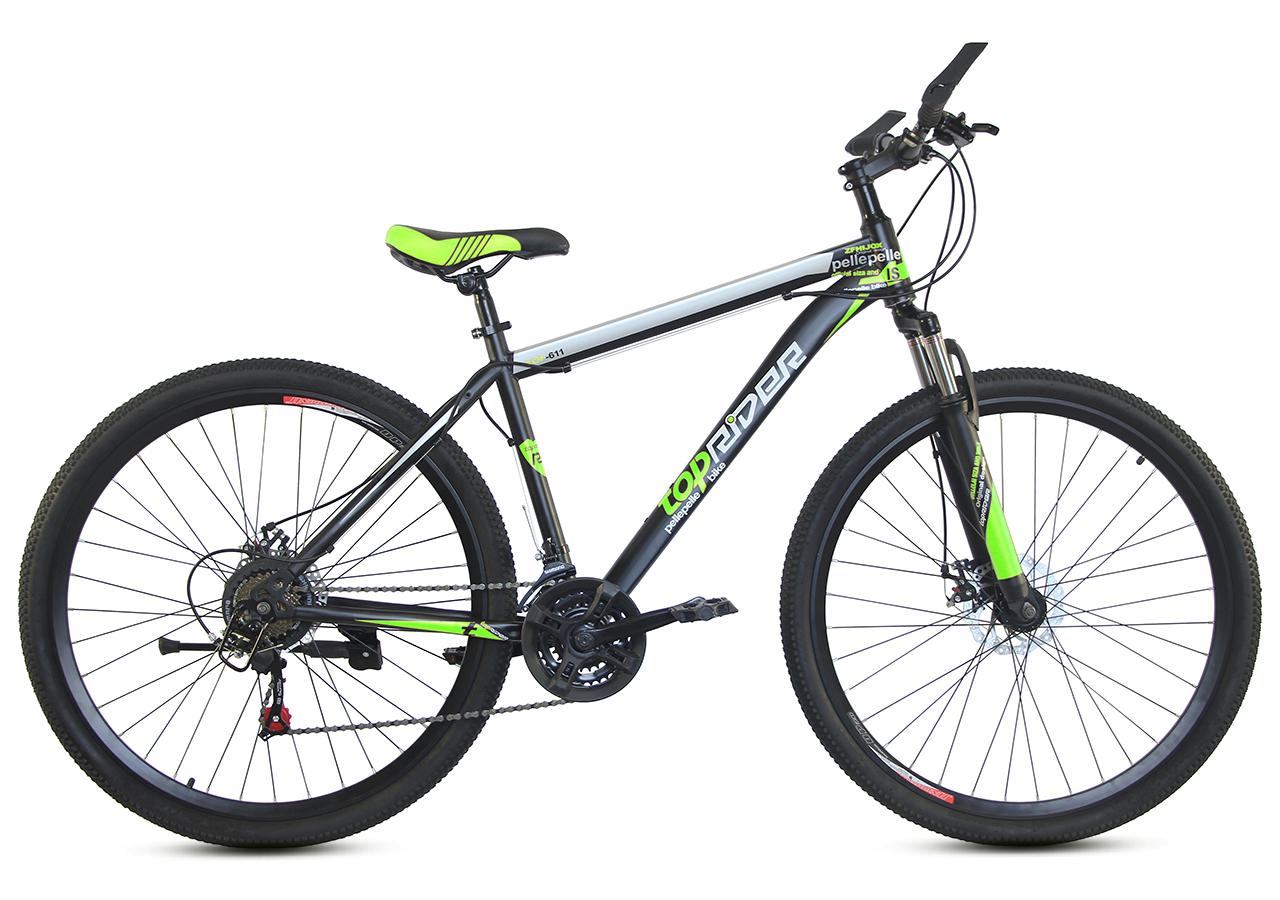 """Горный велосипед TopRider 611 29""""  Черный/Салатовый"""