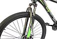 """Горный велосипед TopRider 611 29""""  Черный/Салатовый, фото 4"""