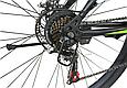 """Горный велосипед TopRider 611 29""""  Черный/Салатовый, фото 5"""