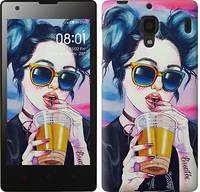 Чехол EndorPhone на Xiaomi Redmi Арт-девушка в очках 3994u-110-19016 (hub_dhzR15867)