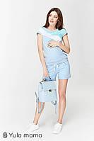 Летний костюм для беременных и кормящих IBIZA ST-29.012 голубой, фото 1