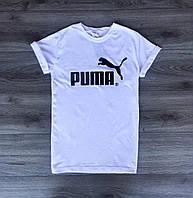 Стильная белая футболка Puma, стильна чоловіча футболка