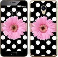 Чехол EndorPhone на Meizu M5 Горошек 2 2147u-420-19016 (hub_VQyX68609)