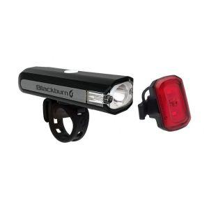 Фара пер.+задн. Blackburn Central 350 Micro 350люм / Click USB Rear 20люм 82г черный (GT)