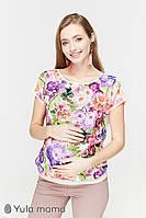 Блузка для вагітних та годування MIRRA BL-29.011, квіти, Юла мама