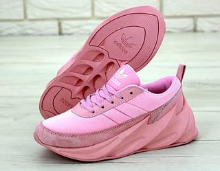 """Женские кроссовки Adidas Sharks """"Pink"""" (люкс копия)"""