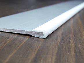 Окантовочный   Торцевой пластиковый профиль для плоских материалов толщиной 2мм. Цвет белый, фото 2