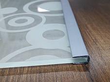 Окантовочный   Торцевой пластиковый профиль для плоских материалов толщиной 4мм. Цвет серый, фото 3