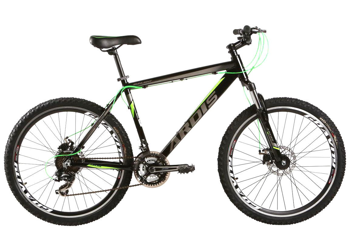 """Горный велосипед ARDIS SUNLIGHT MTB 26"""" алюминиевый, Черно-зеленый"""