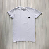 Брендовая  футболка Lacoste белая