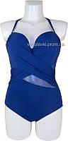 Слитный женский купальник со съемным push up Atlantic beach 695013 синий