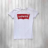 Модная футболка LEVI`S белая, стильна чоловіча футболка