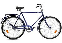 """Дорожный велосипед АИСТ 28""""  мужской с багажником, Синий"""