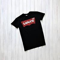 Модная футболка LEVI`S черная, стильна чоловіча футболка