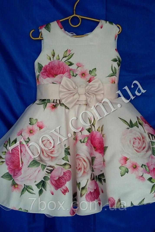 Детское нарядное платье Цветочная поляна. 6 лет. Для выпускного в садик. Композиция