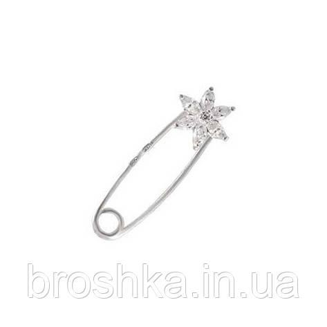 Серебряная брошь булавка звездочка, фото 2