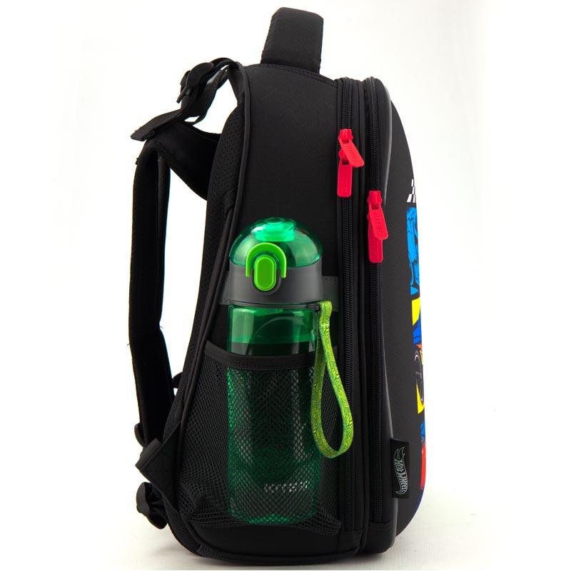 44e2d224f5fb ... Рюкзак школьный каркасный Kite Hot Wheels 38x29x16 см 17 л для мальчиков  Черный (HW19- ...