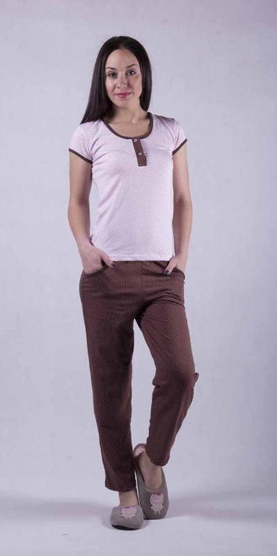 Женская пижама футболка с брюками