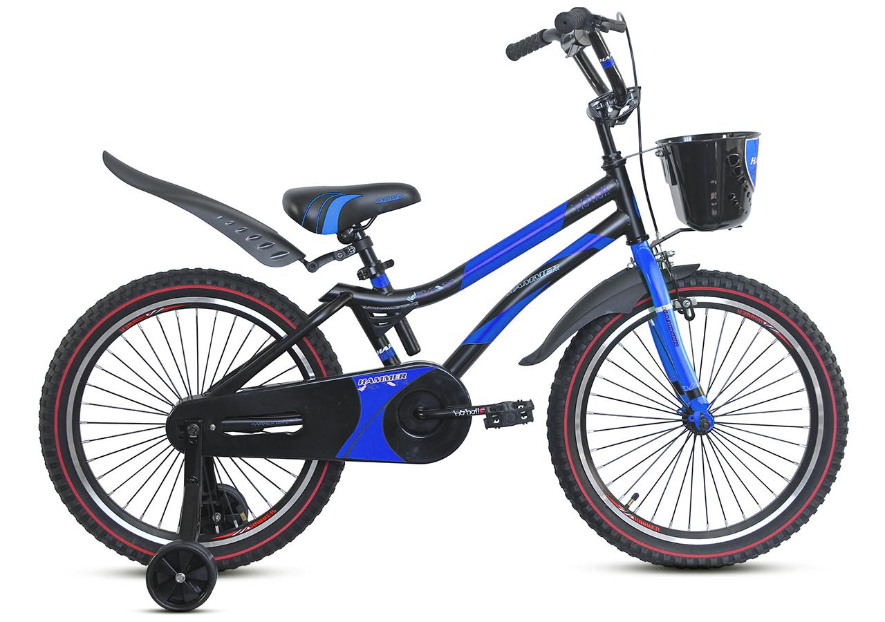 """Детский велосипед HAMMER S500 20"""" Черный/Синий"""