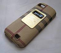 Чехол-бампер Nokia C3-01 Burbery brown
