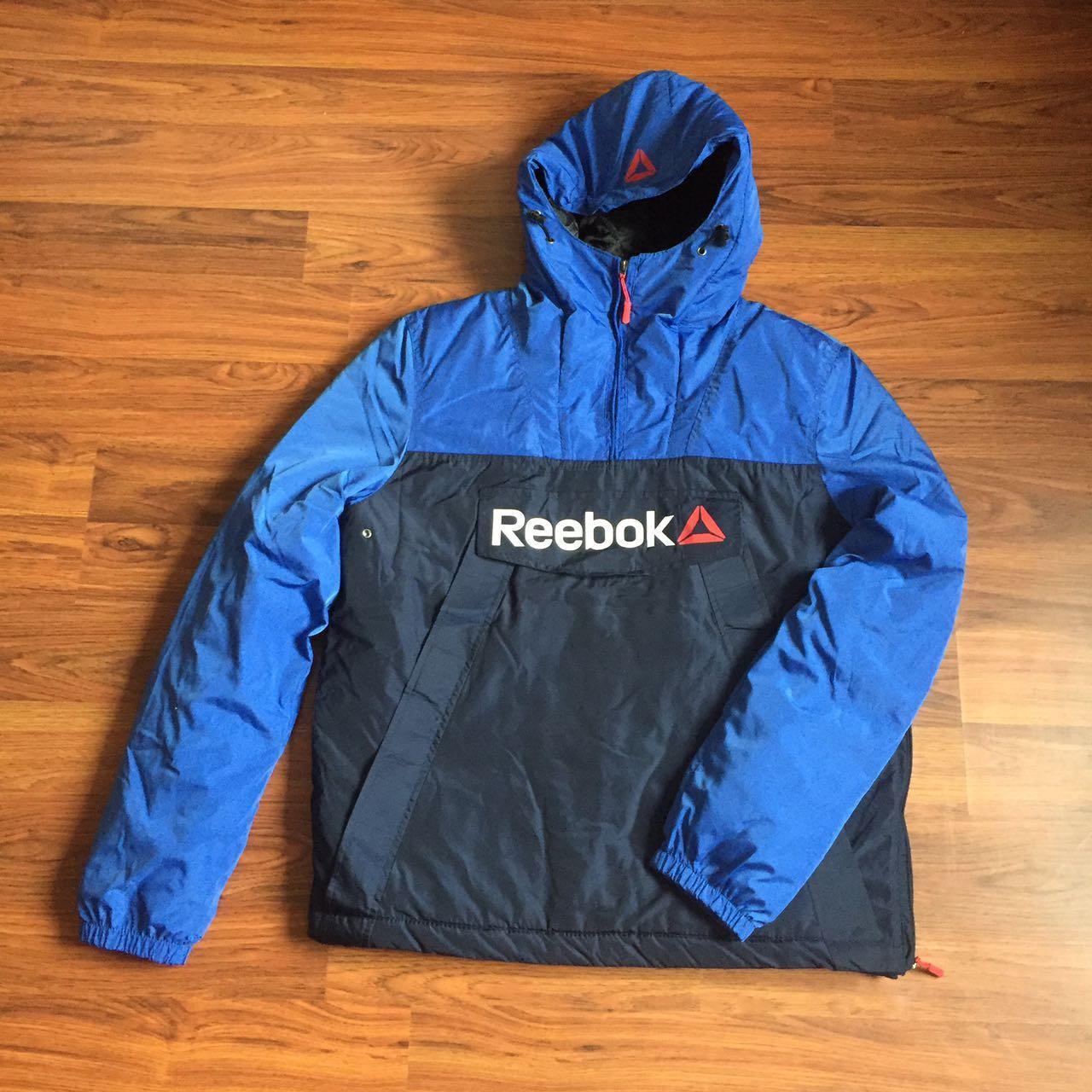 Спортивна утеплена куртка анорак. Синій+електрик. XS - XL