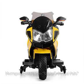 Детский электромотоцикл BAMBI желтый, фото 2